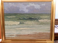 vagues à courseulles sur mer by pierre-edmond peradon