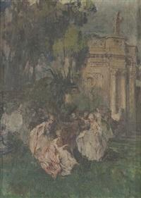 ballo in giardino by giuseppe rivaroli
