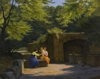 donne in giardino by f. brinicardi
