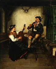 interior with musical couple by ernst emanuel jacob