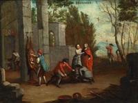 zwei monatsbilder mai und dezember by cornelis troost