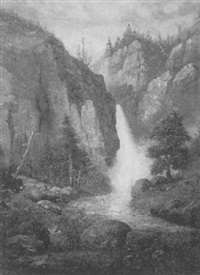 western waterfall by edward rufus hill