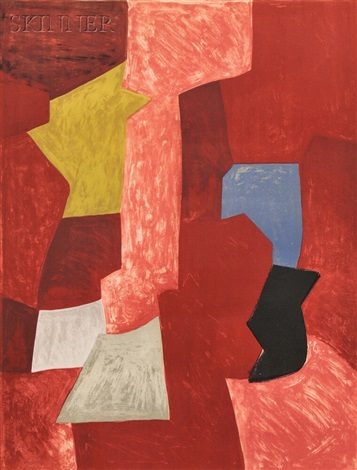 composition rouge jaune et bleue by serge poliakoff