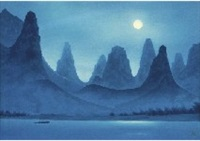 moonlight in li river by shinkichi (kaii) higashiyama