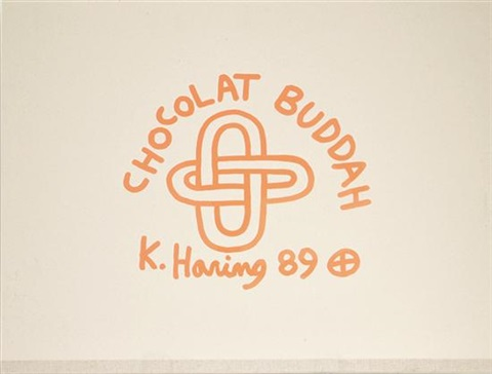 chocolate buddah series i-v (portfolio of 7) by keith haring