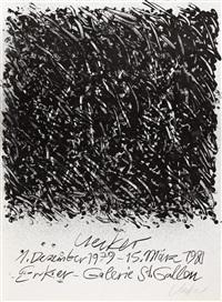 ausstellungsplakate (2 works, 1 in color) by günther uecker