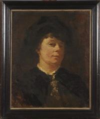 portrait de femme by jacobs (jakob) smits