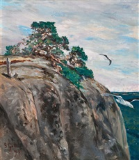 pine on a rock by sigrid granfelt