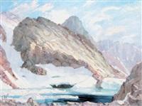 le lac glacé de la grande valloire, massif d'allevard by etienne albrieux