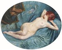 jeune femme allongée by vincent anglade