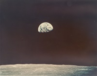 second colour photograph of the first earthrise seen by human eyes, apollo 8, december 1968 by william anders