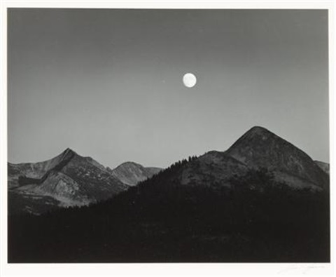 moonrise from glacier point by ansel adams