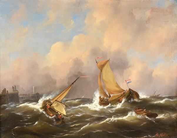 barcas pesqueras cerca de un muelle by abraham hulk i