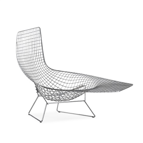a harry bertoia asymmetric chaise by harry bertoia - Chaise Bertoia