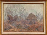 paysage à la meule de foin by henry pieter edward rul