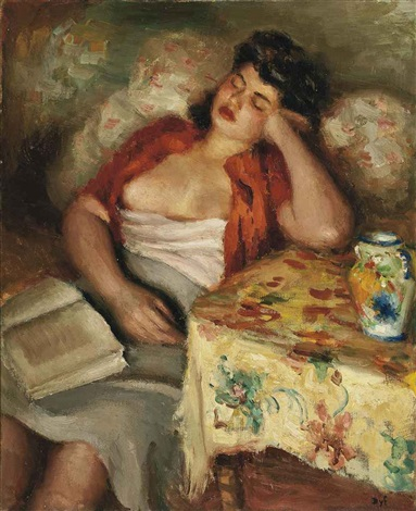 jeune femme endormie by marcel dyf