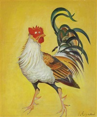 a rooster by g. m. solegaonkar