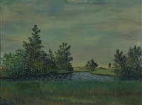 landscape from liminka by vilho lampi