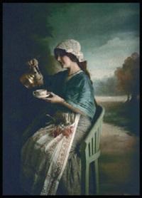 l'heure du thé sur le sentier forestier by edmond goldschmidt