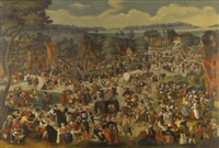 the kermesse of saint george by dutch school-southern (17)