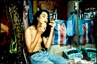 yogo putting on powder, second tip, bangkok by nan goldin