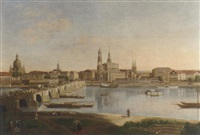 dresden from the right bank of the elbe below the august bridge by karl gottfried traugott faber