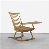 lounge chair with rocker and right arm by george nakashima