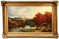 view of the white mountains of new hampshire by john white allen scott