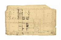 plans relating to william pitt's holwood house, kent by john soane