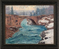 the viaduct, little falls, n.j. by william n. hasler