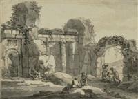 römische ruinen by antonio zucchi