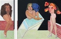 les 3 graces (diptych) by pat andrea