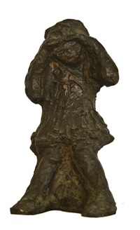 original bronze statue of a girl by lucy boyd beck