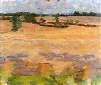 suffolk landscape by claude rogers