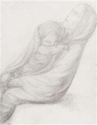 maternité (+ étude d'un nu s'agenouillant, verso) by george minne