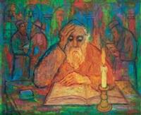 rabbin lisant by nathan gutman