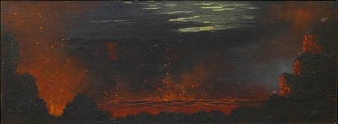 a view into a volcano by jules tavernier