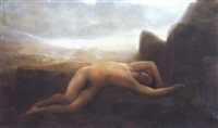 la mort de léandre by charles auguste sellier
