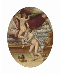 the flight of cupid by girolamo macchietti