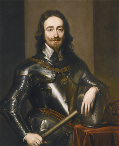 portrait of king charles i by sir anthony van dyck