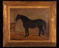 horse in stable by james blazeby