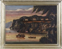 view of west point from constitution island by thomas chambers