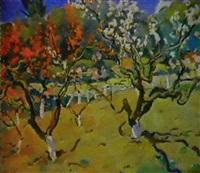 les pechers en fleurs by victor teterine
