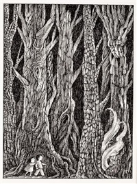 will o' the wisp (illustration from nightmares by jack prelutsky) by arnold lobel