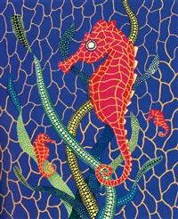 海馬 (seahorses) by yayoi kusama