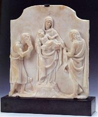 madonna col bambino tra i santi girolamo e giovanni battista by andrea (tatti, dal monte) sansovino