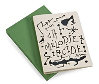 la mélodie acide (book w/14 works) by joan miró