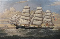william h. connor schooner by percy a. sanborn