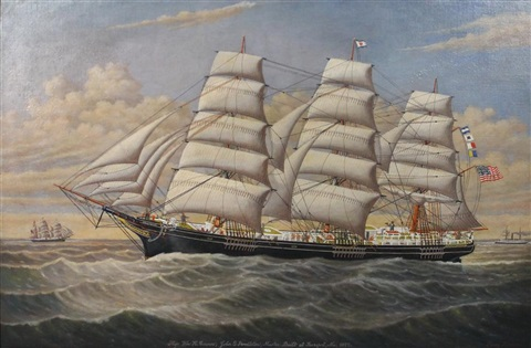 william h connor schooner by percy a sanborn