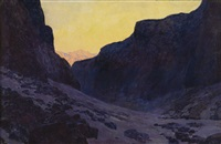in the mountains by fernand harvey lungren